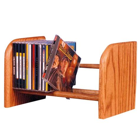 Solid Wood Cd Rack by Solid Oak Cd Storage Shelves With Wood Dowel Racks At