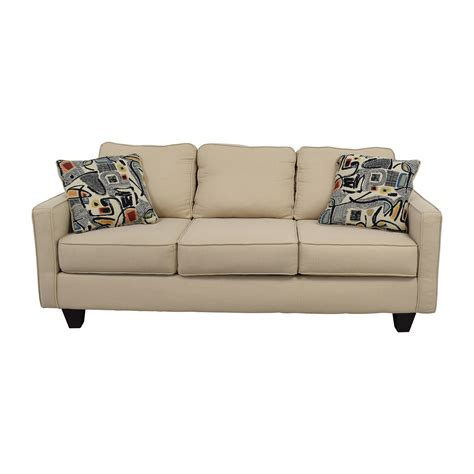 what cushions go with beige sofa 52 off wayfair wayfair allmodern three cushion beige