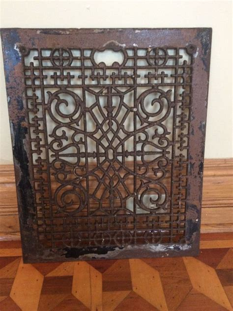 antique victorian floor ls vintage large cast iron scrolly victorian cold air return