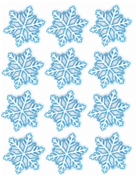 snowflake template for crafts