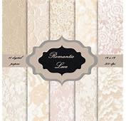LACE Digital Paper Pack  Vintage Lace Pattern Background