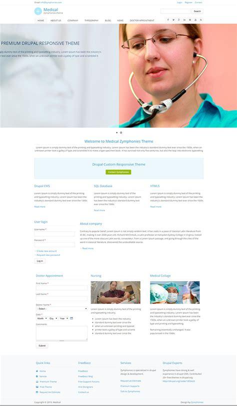 drupal themes hospital 9 health drupal themes free premium templates