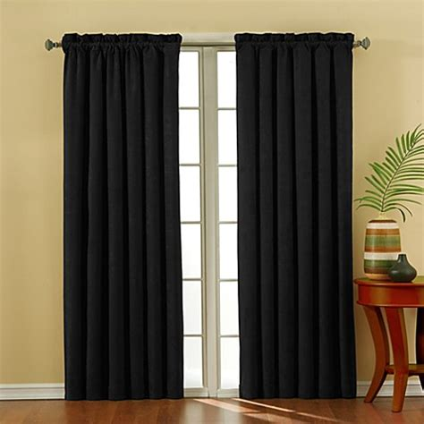 95 inch panel curtains buy solarshield 174 siena suede 95 inch rod pocket blackout