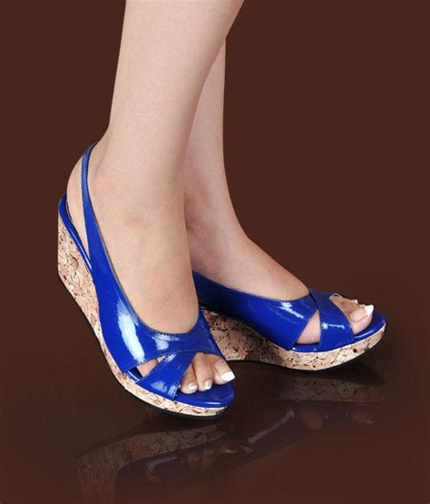 royal blue wedge sandals butterfly smart royal blue wedge heel sandals price in