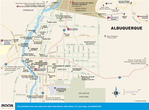albuquerque map printable travel maps of new mexico moon travel guides