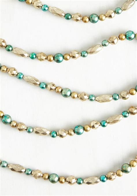 gold bead garland gold and aqua beaded garland everything turquoise
