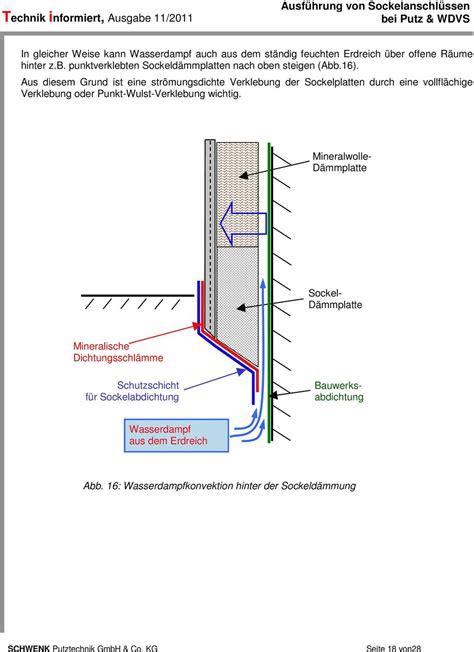 mineralische abdichtung sockel ausf 252 hrung sockelanschl 252 ssen bei putz und wdvs pdf