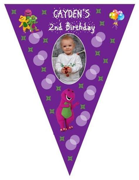 printable barney birthday banner pinterest the world s catalog of ideas