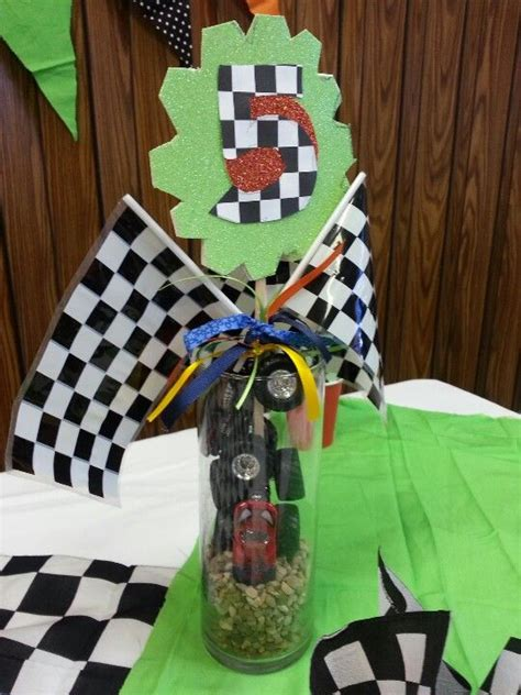 center pieces cars trucks birthday party monster truck