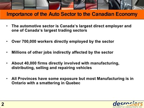 Strategic Review Of The Canadian Automotive Industry