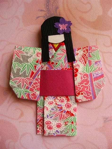 Origami Doll - origami paper doll papercrafts cards scrapbooks