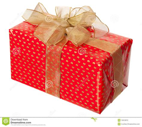 Fancy Paket 1 package with gold bow stock photography image 13012872