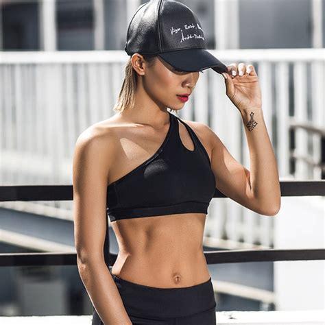 Sport Bra Murah sport bra wanita one shoulder size s black