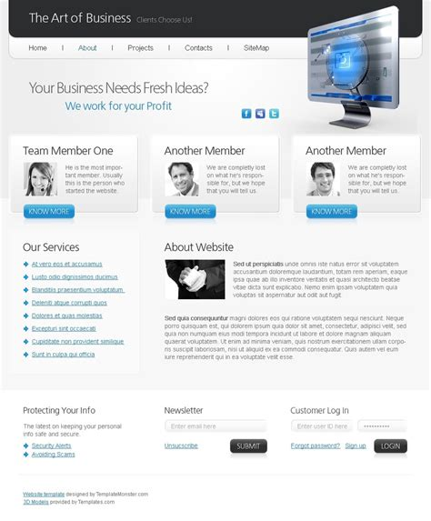 free html5 website template art of business