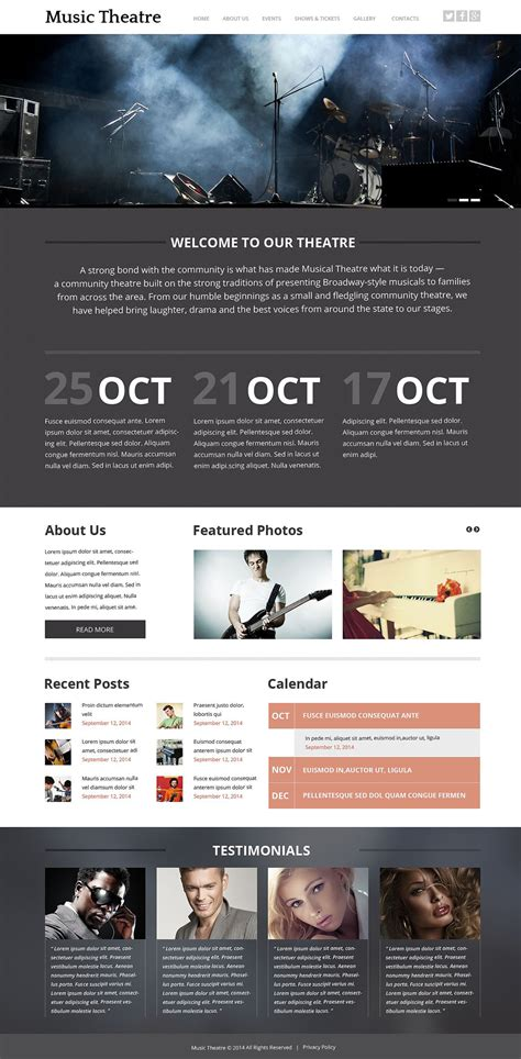 templates for entertainment website template 52749 ensegna themes