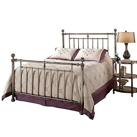 king bed rails buy hillsdale holland king bed set with rails from bed