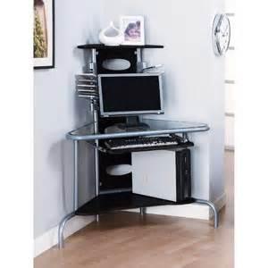 Black Glass Corner Computer Desk Innovex Home Products Ab001m29 Innovex Wall Mount Walmart