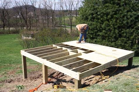 build  foundation   shed   slope   build  foundation    diy
