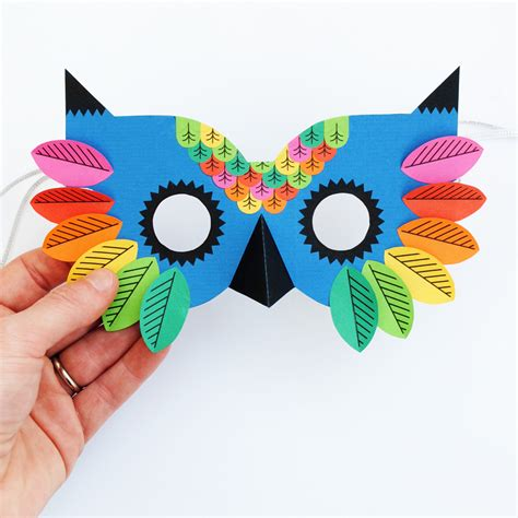 Paper Craft Mask - imprimible printable children s owl mask paperchase
