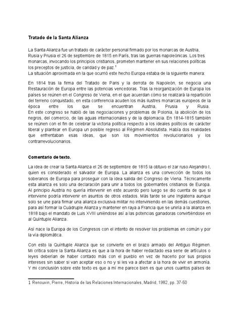 Tratado de La Santa Alianza | Política | Política (general)