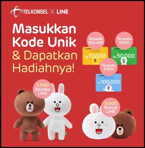 theme line telkomsel event telkomsel x line lucky chance berhadiah pulsa