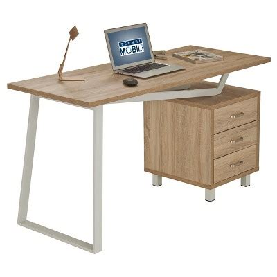 Modern Desk With Storage Modern Design Computer Desk With Storage Sand Techni Mobili Target