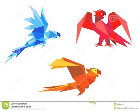 Origami Macaw Parrot - origami parrots stock vector image of beak bird