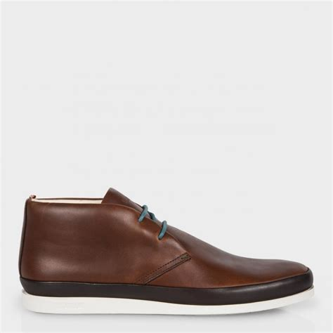 chukka boots with paul smith s brown leather loomis chukka boots with
