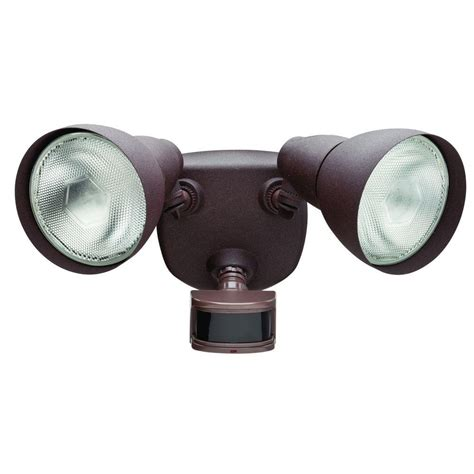 home depot security lights defiant 270 176 rust motion outdoor security light df 5718 rs