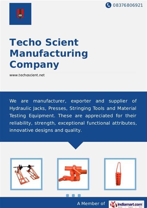techo scient manufacturing company techo scient manufacturing company