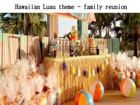 themes that related to family party themes for family reunions