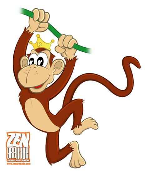 cartoon monkey swinging swinging monkey cartoon clipart panda free clipart images