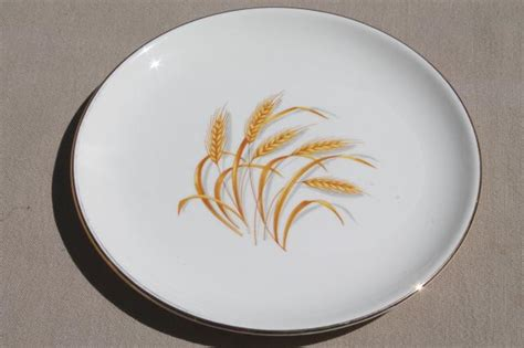 yellow wheat pattern dishes vintage homer laughlin golden wheat china gold wheat