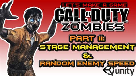 zombie tutorial unity cod zombies style remake unity 3d tutorial part 11 stage