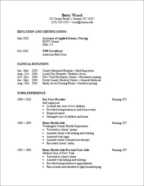 Sle Resume For Nursing Undergraduate Nursing Student Resume Sle 28 Images Nursing