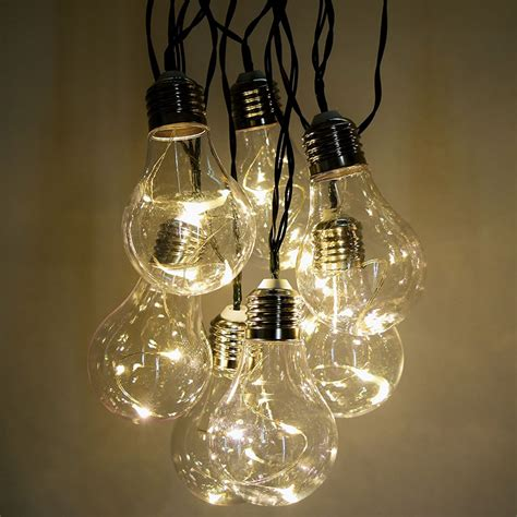 Led Bulb String Lights Vintage Led String Lights 10 Lights 15
