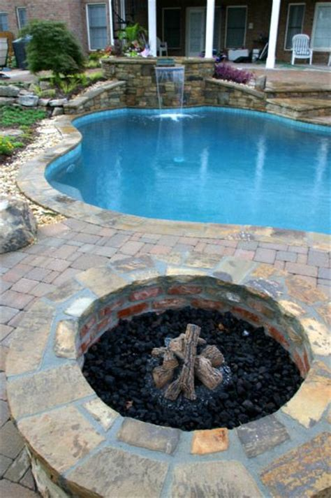 pool fire pit 14 best images about fire pits and fireplaces on pinterest