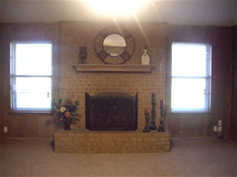 Transforming A Brick Fireplace by Everything Design Transform Your Fireplace