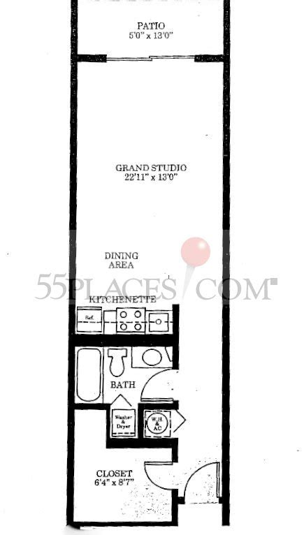 century village floor plans model t floorplan 603 sq ft century village at