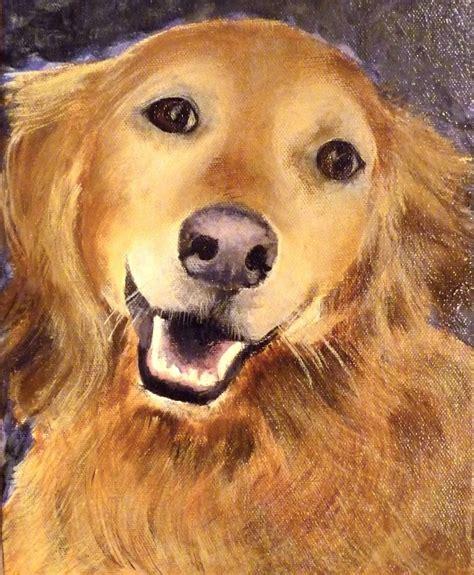 smiling golden retriever custom the smiling golden retriever pet portrait by canvas canines custom