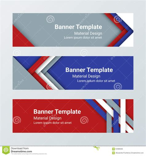 design banner horizontal set of modern horizontal banners page headers in a