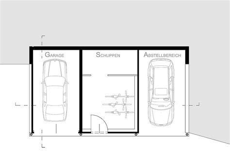 grundriss garage g a s garage architekt dipl ing matthias viehhauser
