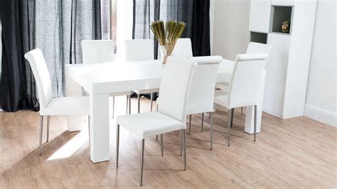 White Wooden Dining Table And Chairs Awesome White Dining Room Set For Inspirations Home Design