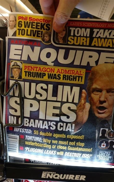 This Weeks National Enquirer Attempts by One S Small Against