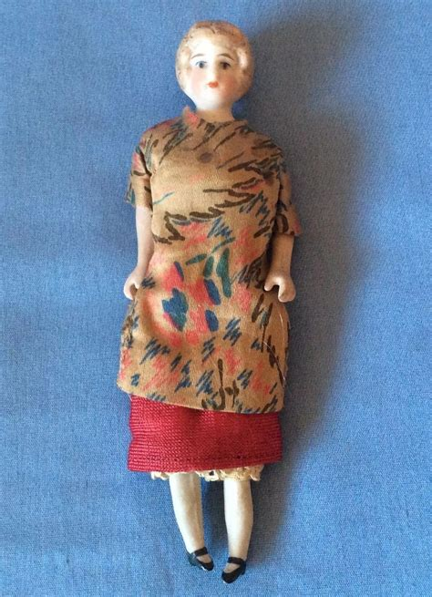 antique bisque dollhouse doll antique german bisque dollhouse doll with bun v