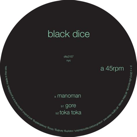 creature comforts black dice products dfa records