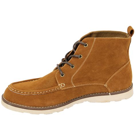 mens designer lace up boots mens boots high ankle top suede look chukka desert shoes