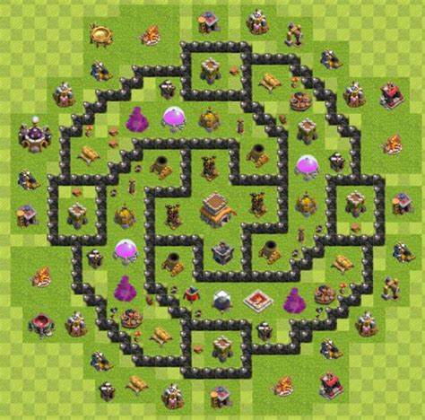 layout for town hall 8 creative creation technology clash of clan town hall 8