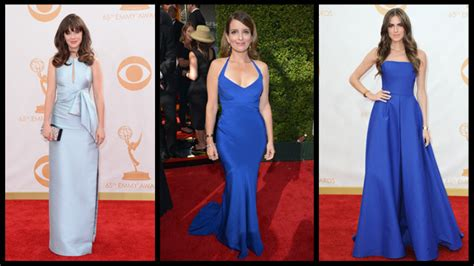 Emmys Fashion Goes White And Blue by Emmys 2013 Fashion True Blue Pret A Reporter