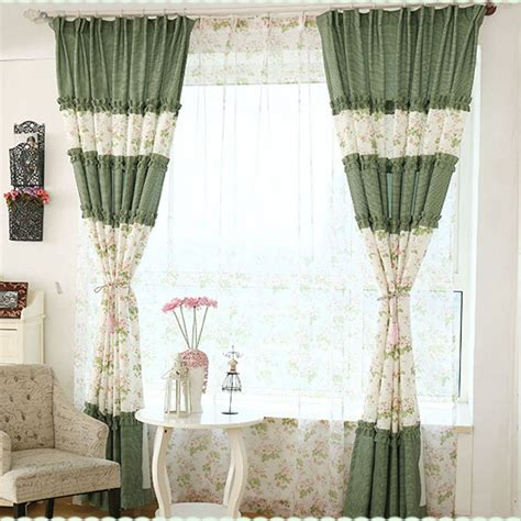 floral shabby chic curtains romantic green floral shabby chic curtains